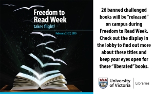 Freedom to Read Week 2010 at the University of Victoria